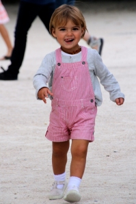 Pink Overalls, Tuileries, Paris